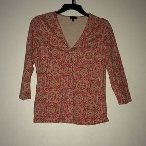 Talbots Patterned Top
